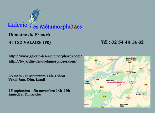coordonnées galerie les metamorphozes