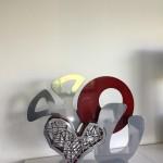coeur rouge argent