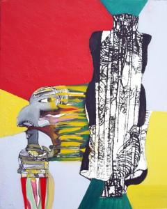 C N°5 Visage de haine Peinture mixte 65x80